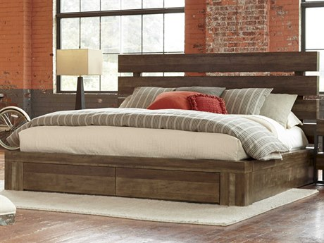 A.R.T. Furniture Epicenters Reclaimed Pallet Queen Size Williamsburg Platform Storage Bed