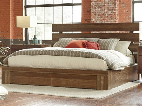 A.R.T. Furniture Epicenters Reclaimed Pallet Eastern King Size Williamsburg Platform Storage Bed