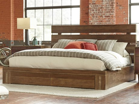 A.R.T. Furniture Epicenters Reclaimed Pallet California King Size Williamsburg Platform Storage Bed