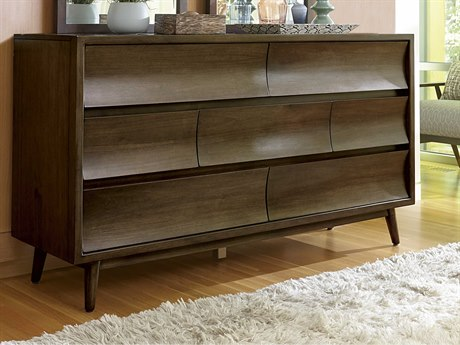 A.R.T. Furniture Epicenters Mid-Century Walnut Double Dresser