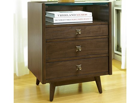 A.R.T. Furniture Epicenters Mid-Century Walnut 22''W x 18''D Rectangular Nightstand