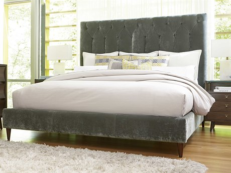 ART Furniture Epicenters Mid-Century Walnut California King Size Silver Lake Platform Bed