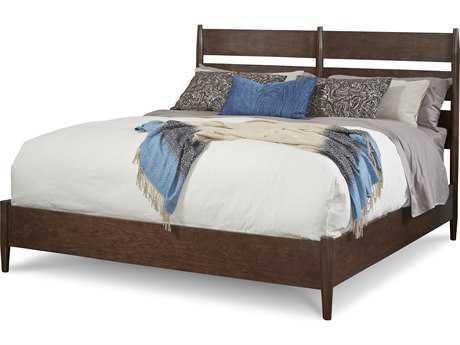 ART Furniture Epicenters Mid-Century Walnut Eastern King Size Silver Lake Slatback Platform Bed