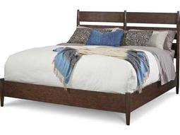 ART Furniture Epicenters Mid-Century Walnut California King Size Silver Lake Slatback Platform Bed