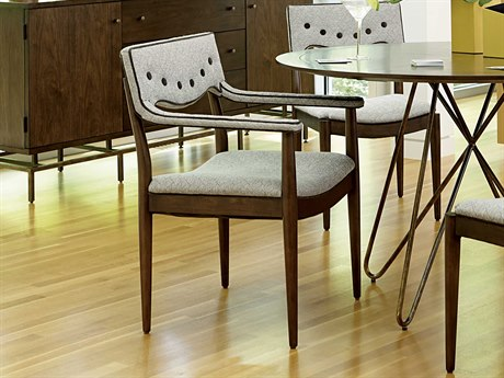 A.R.T. Furniture Epicenters Mid-Century Walnut Dining Arm Chair (Sold as Set of 2)
