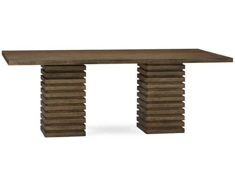 A.R.T. Furniture Epicenters Reclaimed Pallet 88''L x 46.5''W Rectangular Double Pedestal Dining Table