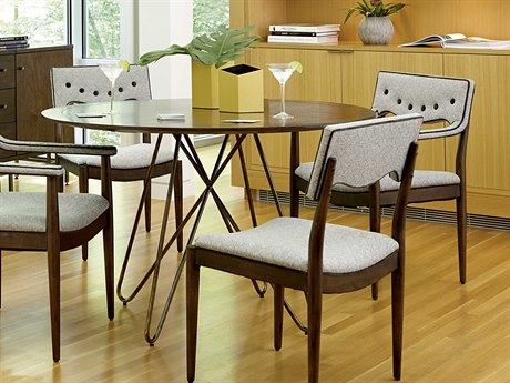 ART Furniture Epicenters Mid-Century Walnut 50'' Wide Round Dining Table