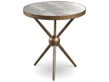 A.R.T. Furniture Epicenters Sunset Brass 24'' Wide Round End Table