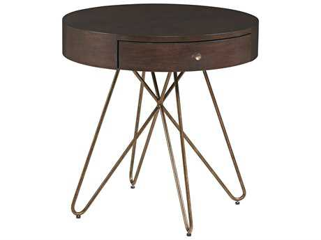 ART Furniture Epicenters Mid-Century Walnut 28'' Wide Round End Table