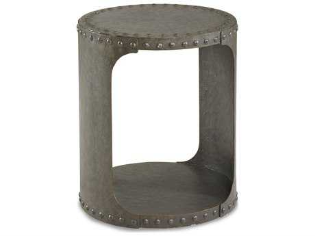 ART Furniture Epicenters Black Metal 26.5'' Wide Round End Table