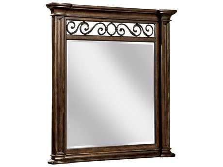 ART Furniture La Viera 18th Century Cherry 43''W x 45''H Vertical Wall Mirror