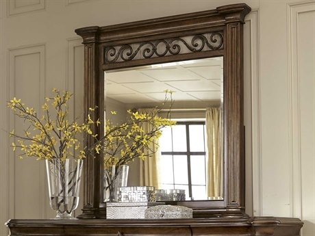 A.R.T. Furniture La Viera 18th Century Cherry 43''W x 45''H Vertical Wall Mirror