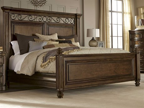 A.R.T. Furniture La Viera 18th Century Cherry Eastern King Size Panel Bed