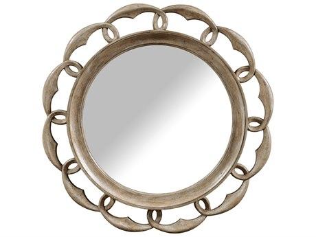 A.R.T. Furniture Pavilion Gypsum 44'' Wide Round Wall Mirror