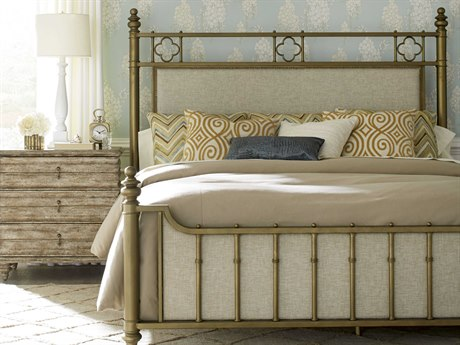 A.R.T. Furniture Pavilion Antique Brass Queen Size Panel Bed