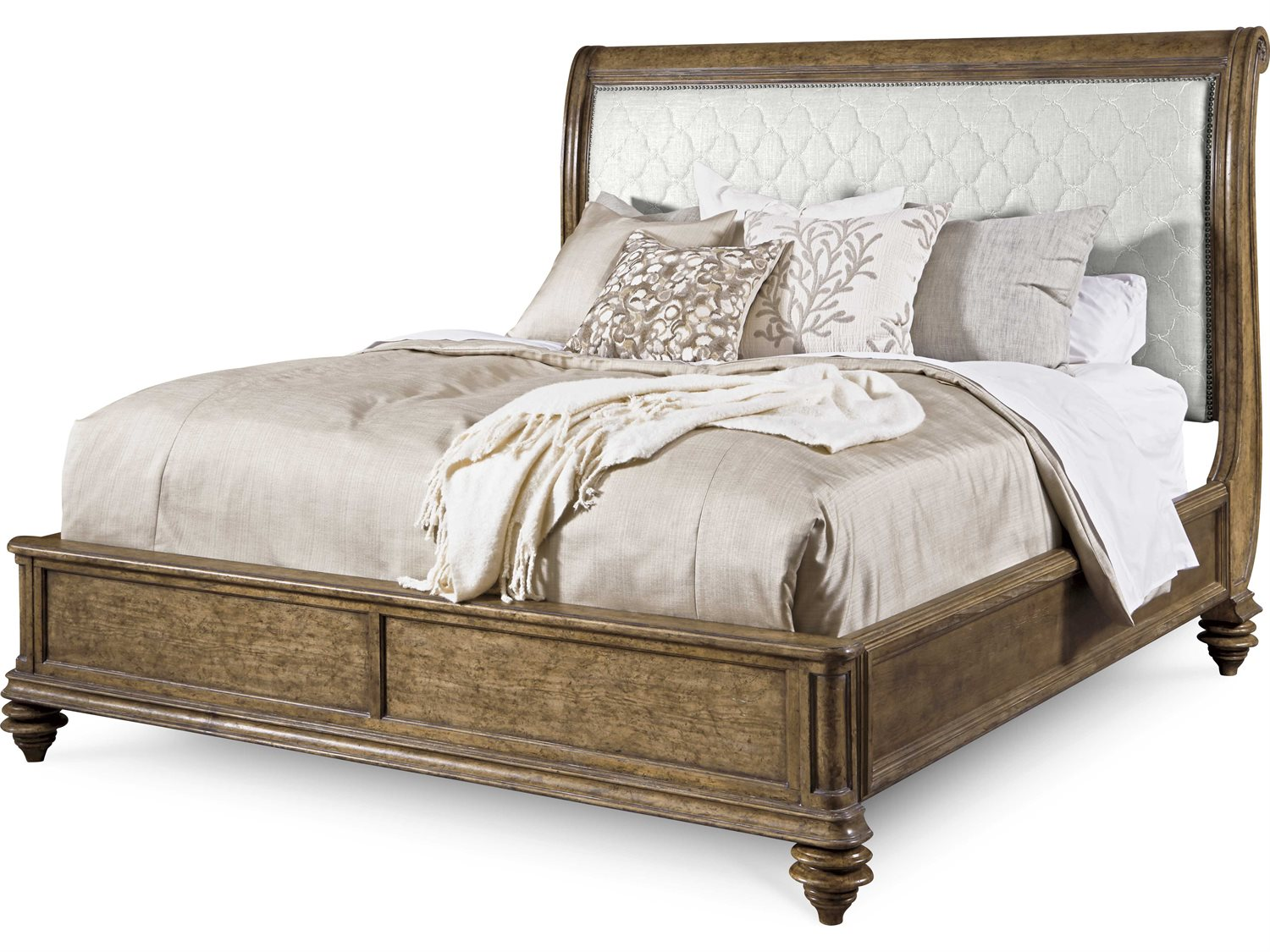 A r t furniture pavilion barley eastern king size sleigh - King size sleigh bed bedroom set ...