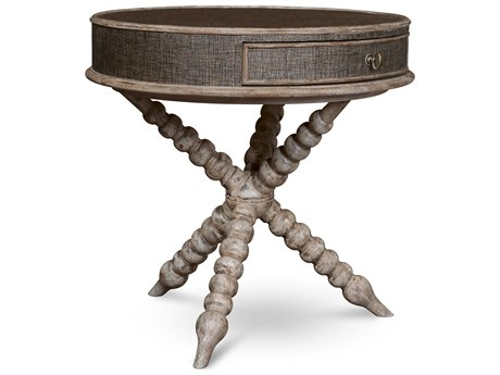 A.R.T. Furniture Pavilion Gypsum 28'' Wide Round End Table