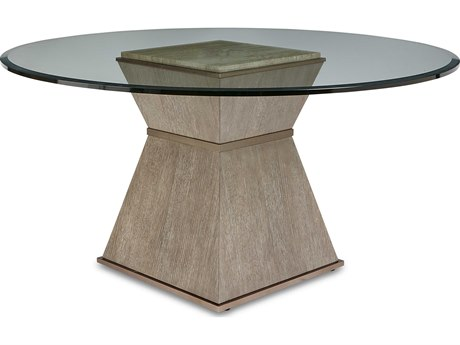 A.R.T. Furniture Cityscapes Hancock Stone 60'' Wide Round Dining Table with Glass Top