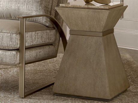 A.R.T. Furniture Cityscapes Hancock Stone 15'' Wide Square End Table