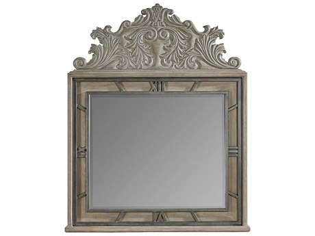 A.R.T. Furniture Arch Salvage Benjamin Parch 47''W x 58''H Landscape Wall Mirror