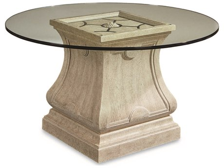 A.R.T. Furniture Arch Salvage Leoni Cirrus 54'' Wide Round Dining Table with Glass Top