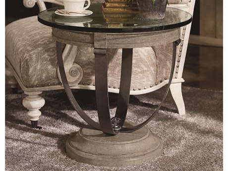 A.R.T. Furniture Arch Salvage Moss Mist 26'' Wide Round End Table