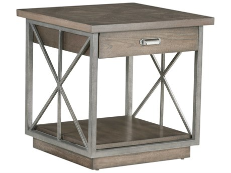 A.R.T. Furniture Arch Salvage Burton Mist 24'' Wide Square End Table