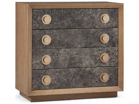 A.R.T. Furniture Epicenters Austin Leander Bold Distresse Leather with Natural Accent Drawer Chest