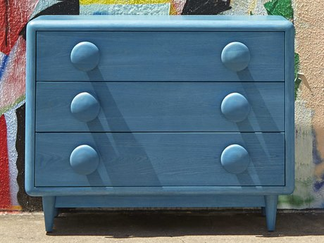 A.R.T. Furniture Epicenters Austin University Hills Washed Blue Accent Drawer Chest