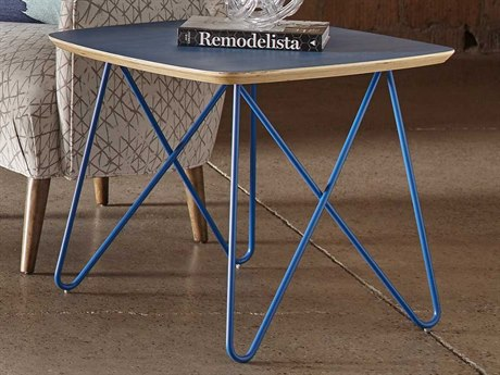 A.R.T. Furniture Epicenters Austin 6th Street Washed Blue 24'' Wide Square End Table