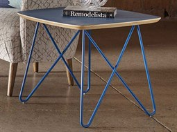 Epicenters Austin 6th Street Washed Blue 24'' Wide Square End Table