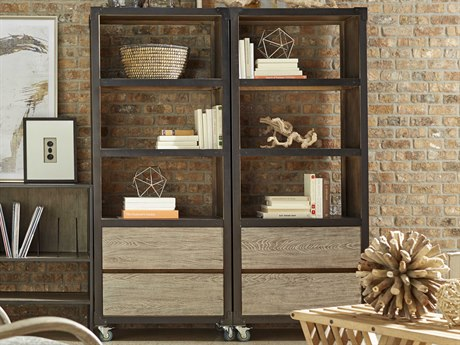 A.R.T. Furniture Epicenters Austin Copperfield Wire Brushed Bookcase