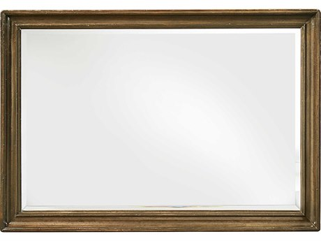 A.R.T. Furniture Continental Weathered Nutmeg 50''W x 34.5''H Rectangular Landscape Mirror