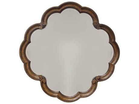 ART Furniture Continental Weathered Nutmeg 42'' Wide Round Wall Mirror