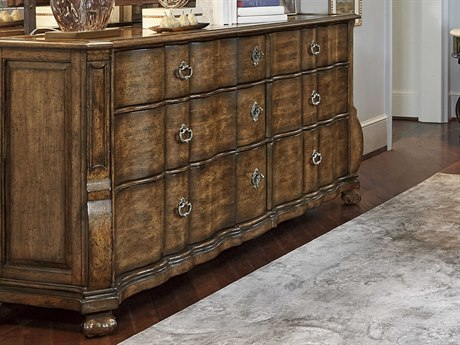 A.R.T. Furniture Continental Weathered Nutmeg Triple Drawer Dresser