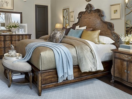 A.R.T. Furniture Continental Weathered Nutmeg Queen Size Panel Bed