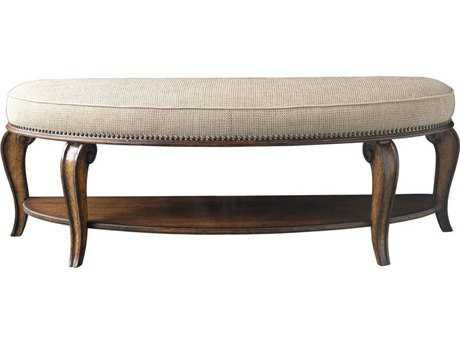 ART Furniture Continental Weathered Nutmeg Accent Bed Bench