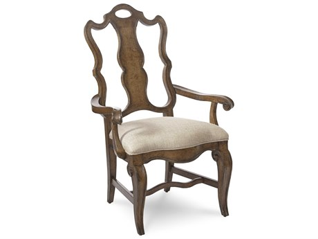 A.R.T. Furniture Continental Weathered Nutmeg Splat Back Dining Arm Chair (Sold in 2)