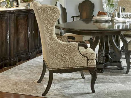 A.R.T. Furniture Continental Vintage Melange Wing Back Dining Arm Chair