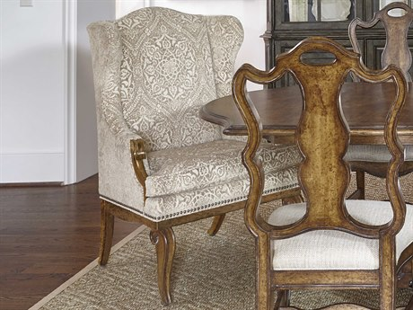 A.R.T. Furniture Continental Weathered Nutmeg Wing Back Dining Arm Chair AT2372072624