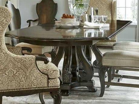 ART Furniture Continental Vintage Melange 85''L x 48''W Rectangular Double Pedestal Dining Table