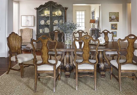 A.R.T. Furniture Continental Weathered Nutmeg Dining Room Set