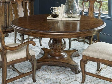 A.R.T. Furniture Continental Weathered Nutmeg 72'' Wide Round Dining Table