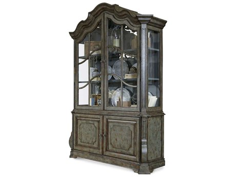 A.R.T. Furniture Continental Patina Bleu Display China Cabinet
