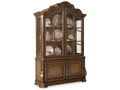 ART Furniture Continental Weathered Nutmeg Display China Cabinet