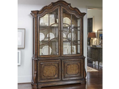A.R.T. Furniture Continental Weathered Nutmeg Display China Cabinet