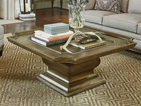 A.R.T. Furniture Continental Crackled Bronze 42'' Wide Square Cocktail Table