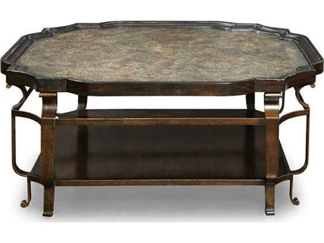 A.R.T. Furniture Continental Vintage Melange & Glazed Ingot 44'' Wide Square Cocktail Table