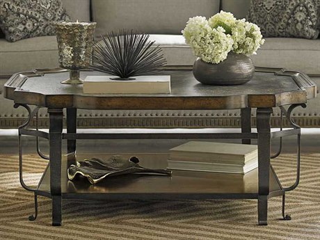 A.R.T. Furniture Continental Weathered Nutmeg & Glazed Ingot 44'' Wide Square Cocktail Table