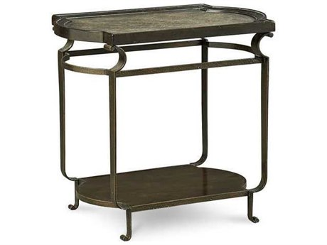 A.R.T. Furniture Continental Vintage Melange & Glazed Ingot 21''L x 29''W Rectangular End Table